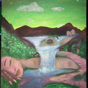 Wall Art - Ladyof the Land acrylic painting